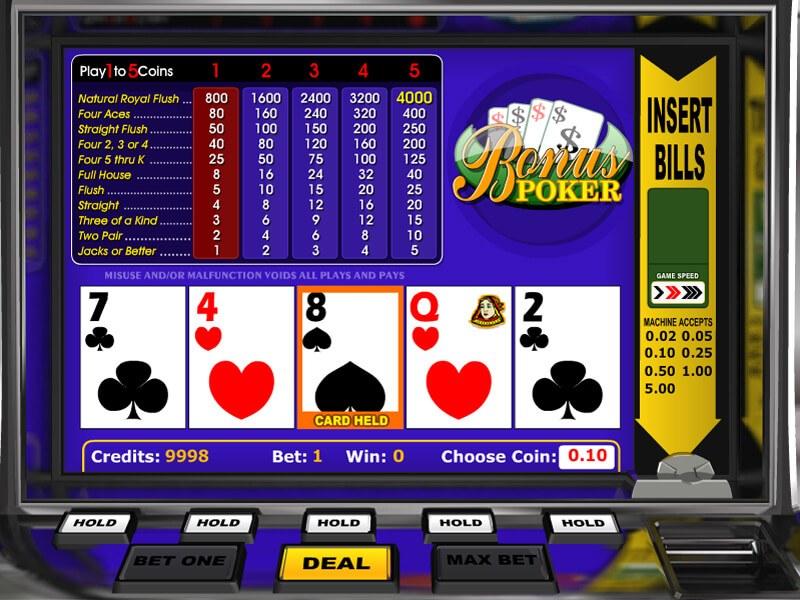 Poker Slots Free No Download